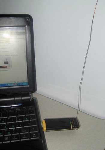 Подключение антенны к ZTE MF-100